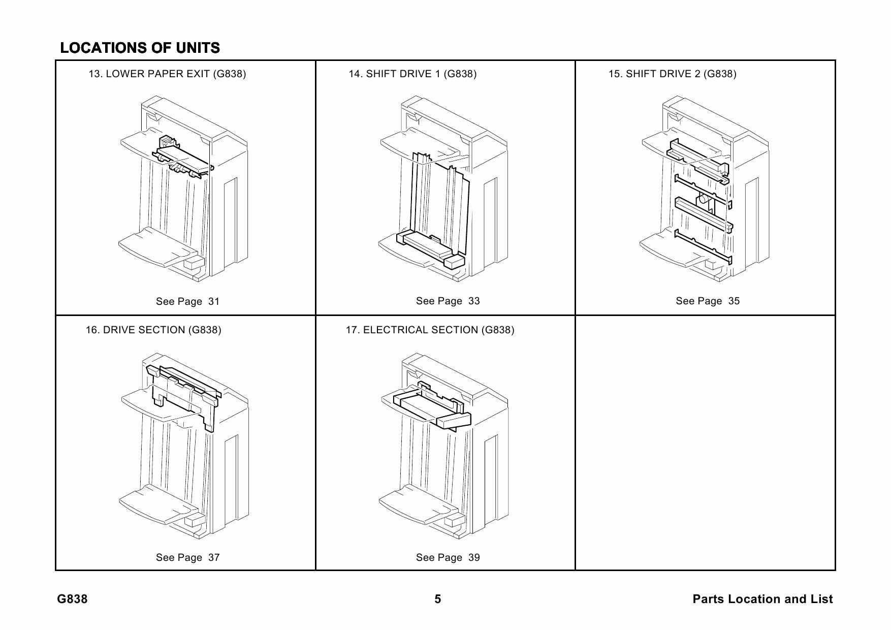 ricoh options sr3040 g838 finisher parts catalog pdf download. Black Bedroom Furniture Sets. Home Design Ideas