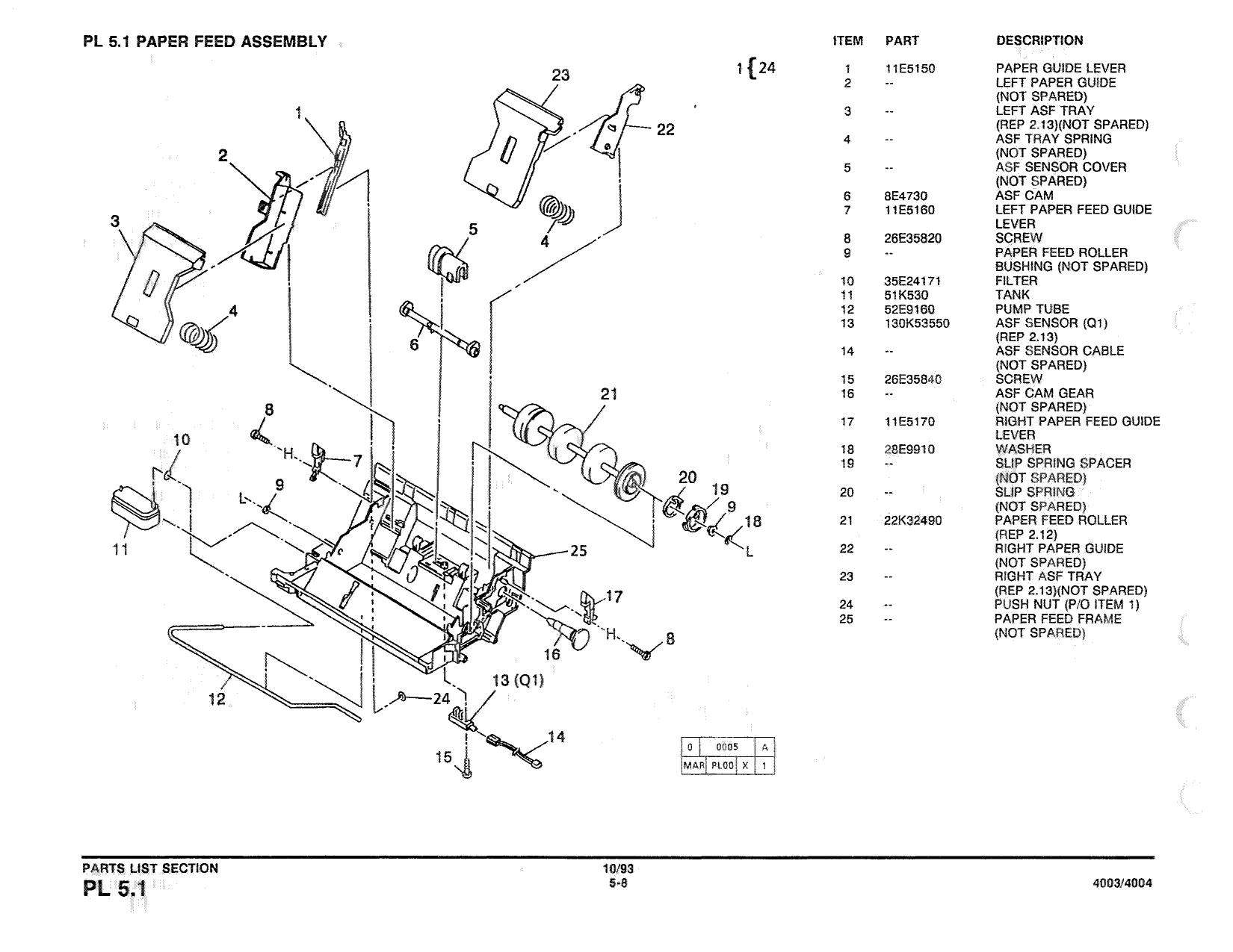 xerox printer 4003 4004 dot