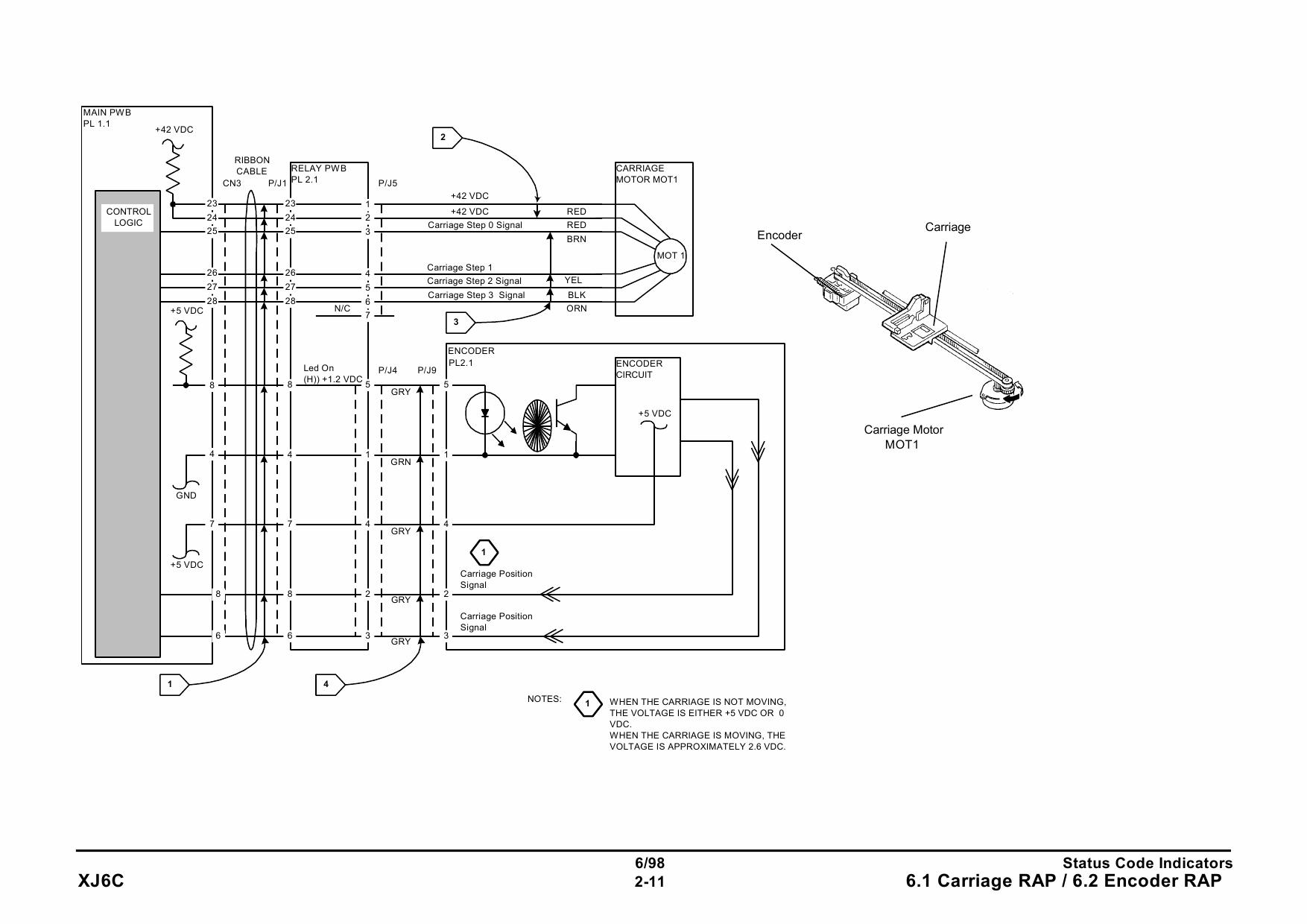 xerox printer xj6c inkjet parts list and service manual