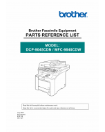 Brother Laser-MFC 9840CDW DCP9045CDN Parts Reference