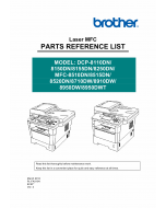 Brother Laser-MFC DCP-8110 8112 8150 8152 8155 8157 8250 MFC-8510 8512 8515 8520 8710 8712 8910 8912 8950 8952 Parts Reference