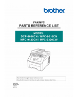 Brother MFC 9010 9120 9320 CN-CW DCP9010CN Parts Reference