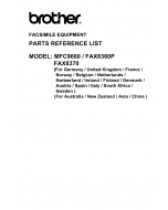Brother MFC 9660 FAX8360 8370 Parts Reference