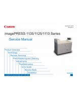 CANON imagePRESS 1110 1125 1135 Service Manual PDF download