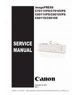 CANON imagePRESS C7011VPS C7010VPS C6011VPS C6010VPS C6011S C6010S Service Manual PDF download