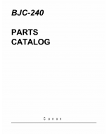 Canon BubbleJet BJC-240 Parts Catalog Manual