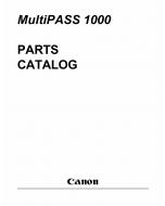 Canon MultiPASS MP-1000 Parts Catalog Manual