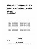 Canon PIXMA MP170 MP450 Parts Catalog Manual