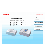 Canon SELPHY CP710 CP510 Service Manual