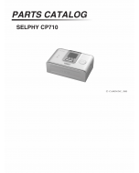 Canon SELPHY CP710 Parts Catalog Manual