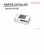 Canon SELPHY CP730 Parts Catalog Manual