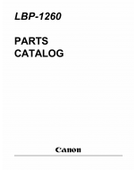 Canon imageCLASS LBP-1260 Parts Catalog Manual