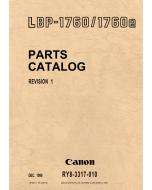 Canon imageCLASS LBP-1760 Parts Catalog Manual