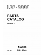 Canon imageCLASS LBP-2000 Parts Catalog Manual