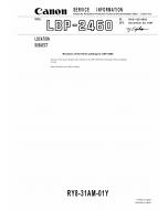 Canon imageCLASS LBP-2460 Parts Catalog Manual