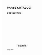 Canon imageCLASS LBP-3000 2900 Parts Catalog Manual