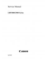 Canon imageCLASS LBP-3000 2900 Service Manual