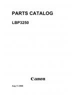 Canon imageCLASS LBP-3250 Parts Catalog Manual