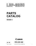 Canon imageCLASS LBP-3260 Parts Catalog Manual