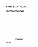 Canon imageCLASS LBP-5300 5360 5400 Parts Catalog Manual
