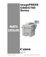 Canon imagePRESS C800 C700 Parts Catalog Manual