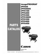 Canon imagePROGRAF iPF-6450 6400 6350 6300 6200 6100 6000S 605 Parts Catalog Manual