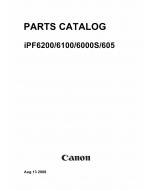 Canon imagePROGRAF iPF605 6000s 6100 6200 Parts Catalog Manual