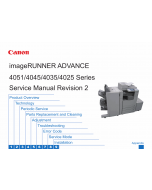 Canon imageRUNNER-ADVANCE-iR 4025 4035 4045 4051 Service Manual