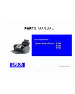 EPSON StylusPhoto R240 R245 R250 Parts Manual