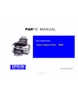 EPSON StylusPhoto R800 Parts Manual