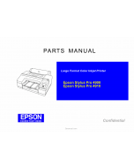 EPSON StylusPro 4900 4910 Parts Manual
