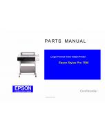 EPSON StylusPro 7500 Parts Manual