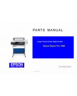 EPSON StylusPro 7600 Parts Manual
