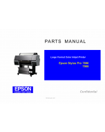 EPSON StylusPro 7890 7908 Parts Manual