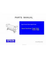 EPSON SureColor T7000 T7050 T7070 T7080 Parts Manual