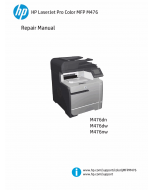 HP ColorLaserJet Pro-MFP M476 dn dw nw Parts and Repair Guide PDF download