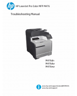 HP ColorLaserJet Pro-MFP M476 dn dw nw Troubleshooting Manual PDF download