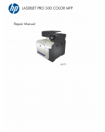 HP ColorLaserJet Pro-MFP M570 500 Parts and Repair Guide PDF download