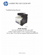 HP ColorLaserJet Pro-MFP M570 500 Troubleshooting Manual PDF download