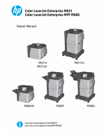 HP LaserJet Enterprise-Color M651 M680-MFP Parts and Repair Manual PDF download
