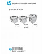 HP LaserJet Enterprise M604 M605 M606 Troubleshooting Manual PDF download