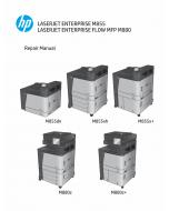 HP LaserJet Enterprise M855 M880 FlowMFP Parts and Repair Manual PDF download