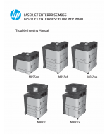 HP LaserJet Enterprise M855 M880 FlowMFP Troubleshooting Manual PDF download