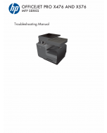 HP OfficeJet Pro X476-MFP X576-MFP Troubleshooting Manual PDF download