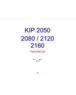 KIP 2050 2080 2120 2160 Image-Scanner K-75 Parts Manual