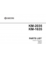 KYOCERA Copier KM-2035 1635 Parts Manual