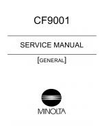 Konica-Minolta MINOLTA CF9001 GENERAL Service Manual