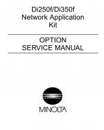 Konica-Minolta MINOLTA Di250f Di350f Network-Application Service Manual