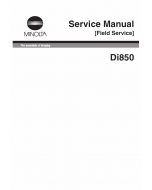 Konica-Minolta MINOLTA Di850 FIELD-SERVICE Service Manual