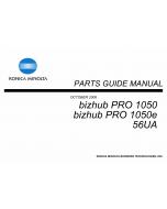 Konica-Minolta bizhub-PRO 1050 1050e Parts Manual